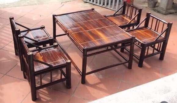 bộ bàn ghế 4