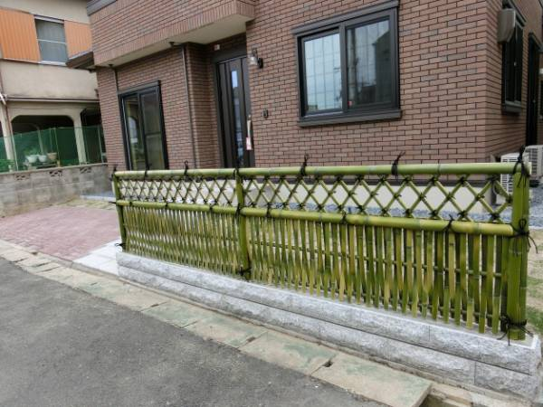 hàng rào cọc tre