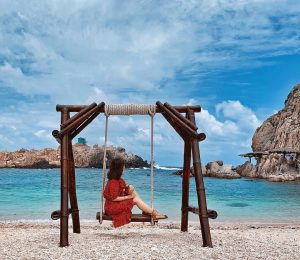 xích đu bãi biển