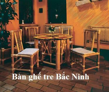 bàn ghế tre bắc ninh